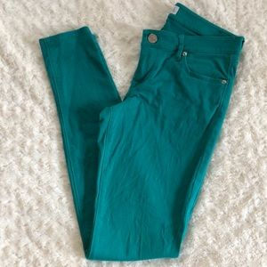 Express turquoise skinny pants